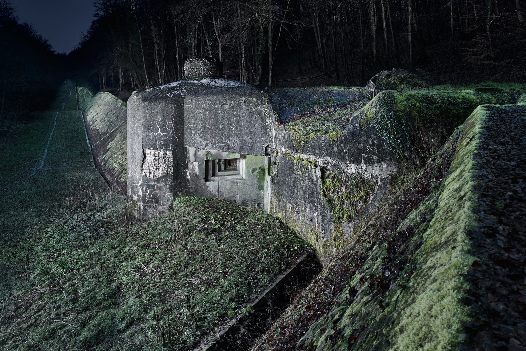 Anti Tank Wall and block 22, Ouvrage Hackenberg