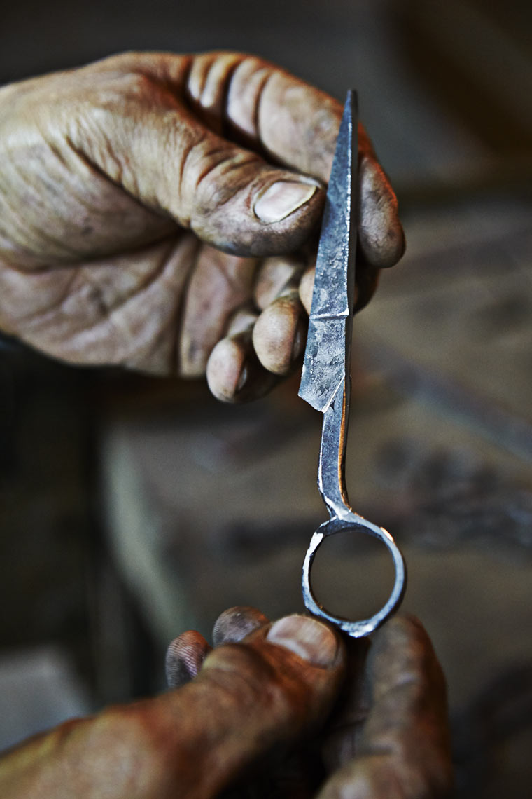 Detail of scissors, Frosolone