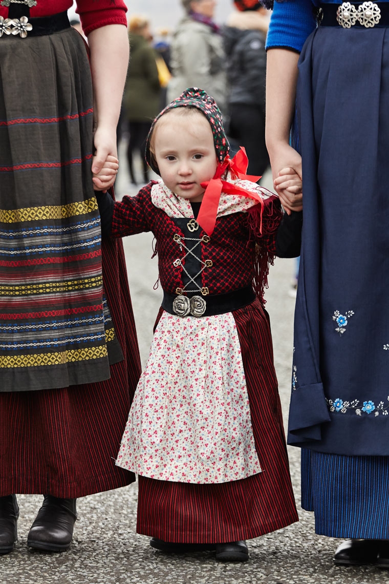 Girl in trad dress, Klaksvik